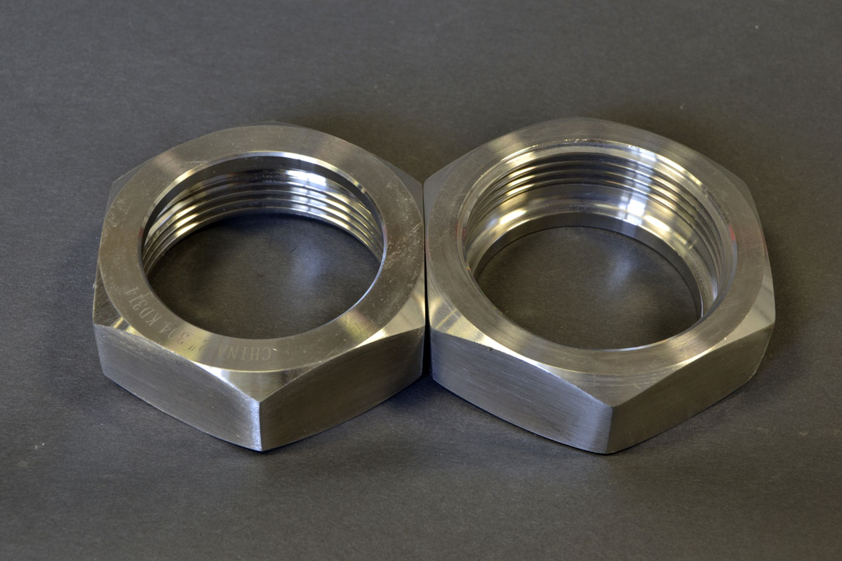 2 Inch Bevel Seat Hex Nut 304 Stainless